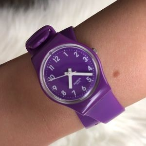Swatch Wrap Watch - Retro Purple Berry Sorbet